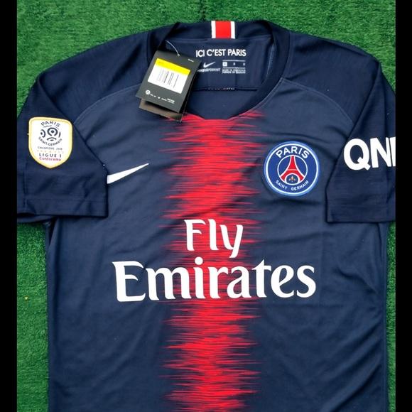 4c6d40ea41a Nike Shirts | 201819 Psg Soccer Jersey Mbappe | Poshmark